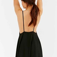 BLQ BASIQ Low-Back Slip Dress- Black