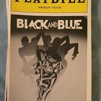 Black And Blue Playbill