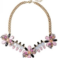 Delightful Flower Statement Necklace - Happiness Boutique