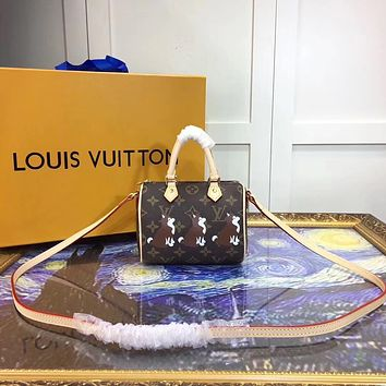 LV Louis Vuitton MONOGRAM CANVAS SMALL NANO SPEEDY HANDBAG SHOULDER BAG