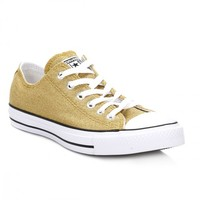 Converse Womens Gold Sparkle Knit All Star Trainers