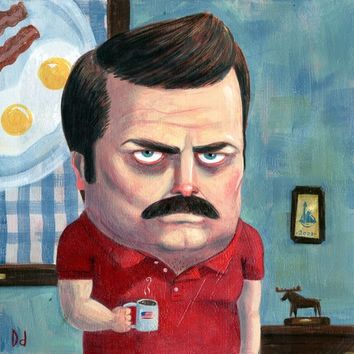 """Ron Swanson"" - Art Print by Dustin d'Arnault"