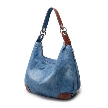 2017 Women Large Capacity Handbags Women Bag Designer Ladies Handbags Big Purses Jean Denim Tote Crossbody Women Shoulder Bags