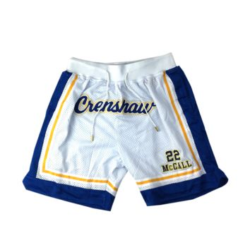 Quincy McCall Crenshaw White Basketball Shorts