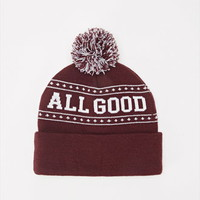 All Good Pom Beanie