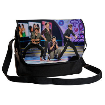 "BIG TIME RUSH - High quality 15"" Laptop & Messenger bag. Free shipping  (shoulder,cross body,school,gift)"