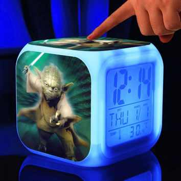 Choice of Star Wars Touch Light Alarm Clock with Temperature