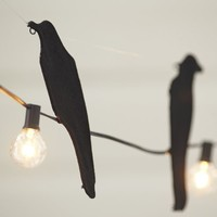 Crow On A Wire String Lights