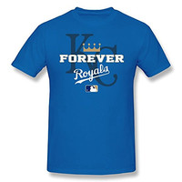 FUDI Men's MLB Kansas City Royals KC KAN KauffmanStadium T-shirt - XL RoyalBlue