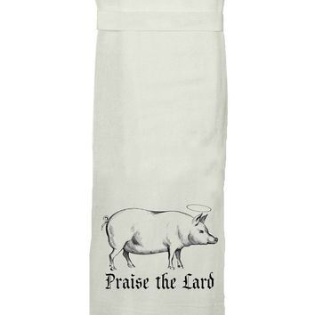 Praise the Lard Hang Tight Towel by Twisted Wares