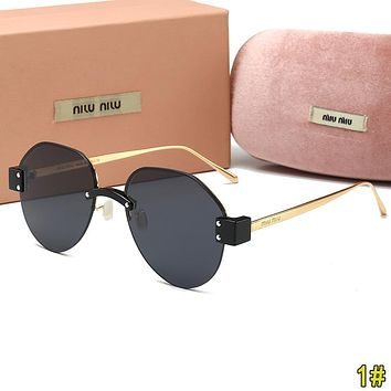 MiuMiu Fashion Woman Men Summer Sun Shades Eyeglasses Glasses Sunglasses 1#