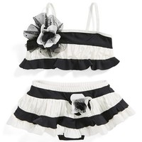 Isobella & Chloe 'Sparkling Tide' Two-Piece Swimsuit (Toddler Girls)