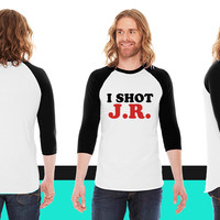 I Shot JR American Apparel Unisex 3/4 Sleeve T-Shirt