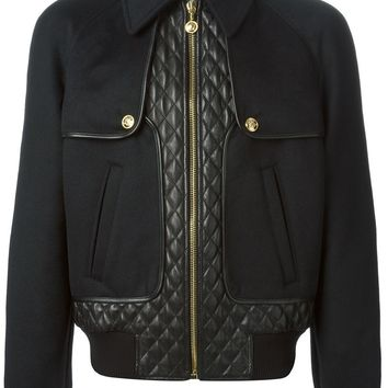Versace quilted panel jacket