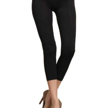 Capri Leggings, Black