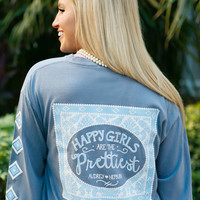 Jadelynn Brooke: Happy Girls are the Prettiest Long Sleeve {Blue Jean}