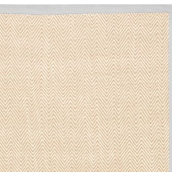 Chenille Jute Thick Solid Border Rug - Gray