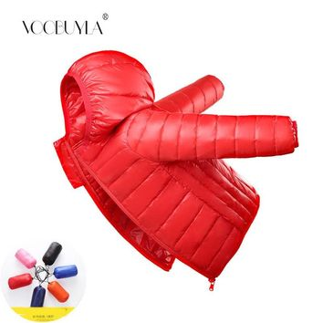 Voobuyla Children Duck Down Jacket Outerwear Boy and Girl Autumn Warm Down Hooded Coat Teenage Light Down Kids Winter Jacket