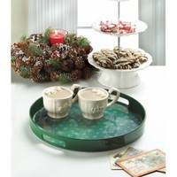 Snowflakes Falling Christmas Serving Tray