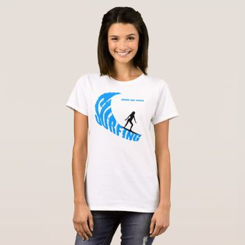 Surfing female custom T-Shirt