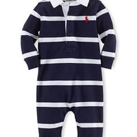 Ralph Lauren Childrenswear Baby Boys Baby Boys Rugby Striped Coveralls