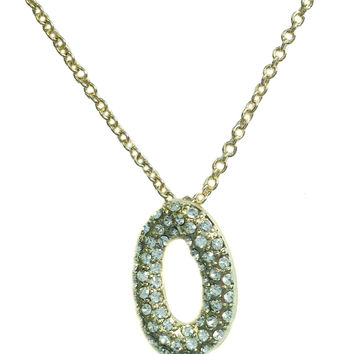 "Gold Oval ""O"" Necklace"