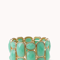 FOREVER 21 Heirloom Faux Stone Bracelet