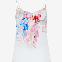 Hanging Gardens scalloped edge cami - Mint | Tops & T-shirts | Ted Baker ROW