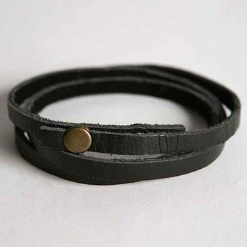 UO Leather Wrap Bracelet-