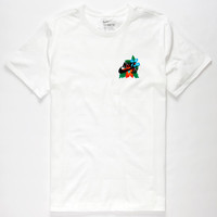 Nike Sb Colorful Floral Mens T-Shirt White  In Sizes