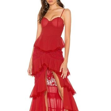 Holly Red Hottest Fashion Designer Maxi Dress