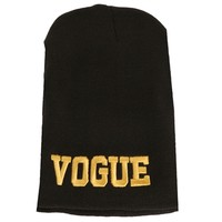 Black/Gold Vogue Beanie