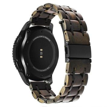 Nature Wood + Stainless Steel Watchband for Samsung/Frontier Gear