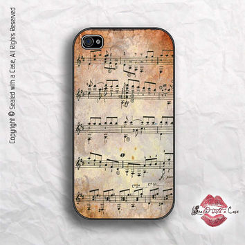 Mozart Sheet Music - iPhone 4 Case, iPhone 4s Case and iPhone 5/5S/5C and now iPhone 6 cases!! And Samsung Galaxy S3/S4/S5