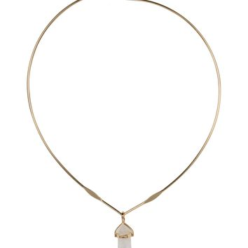 Cool as Ice Crystal Choker in Gold