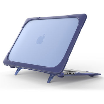 "GOOYIYO -   Laptop Case for Macbook Air 13"" Hard Plastic  Blue TPU&Matte PC Cover Riser Holder Shell&Free Keyboard Cover"