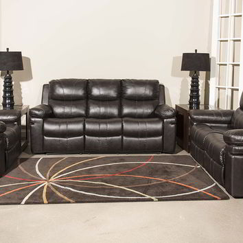 Klaussner Calvin Chocolate Reclining Sofa and Loveseat