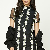 Daisy Embroidered Shift Dress