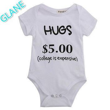 Newborn Baby Boys Girls Clothes Letters One-Piece Romper Jumpsuit Sunsuit Outfits Childish Coveralls Romper for Newborns
