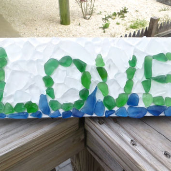 Sea Glass  Love Wall Hanging Home Decor