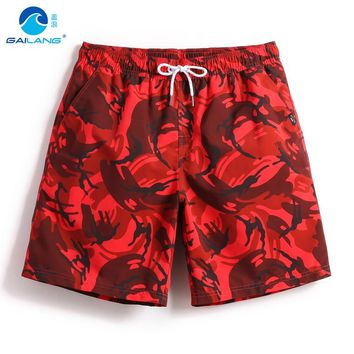 Gailang couples boardshorts liner sweat swimsuit mens bermudas Camouflage patterns siwmming trunks beach surfing bathing suit