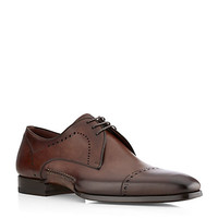 Magnanni Handstitched Leather Derby Shoe | Harrods