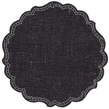 Round Linen Placemat-s/6 | Coffee