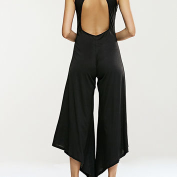 Cut Out Sleeveless Jumpsuit