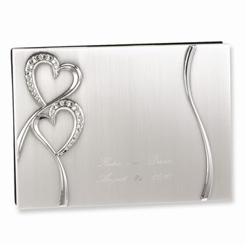 Sparkling Love (holds 1,000 signatures) Guest Book - Engravable Gift Item