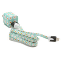 PacSun Mint Daisy Cord iPhone 5 Charger at PacSun.com