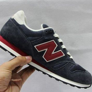 ONETOW cxon new balance nb373aa retro breathable dark blue red for women men running sport casual shoes sneakers