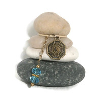 Yin Yang Mini Rock Cairn, Solid, Strong, Yoga, Meditate, Balance, Om, Zen, Desk Gift, Unique Gift, Interdependent, Inexpensive Small Gift