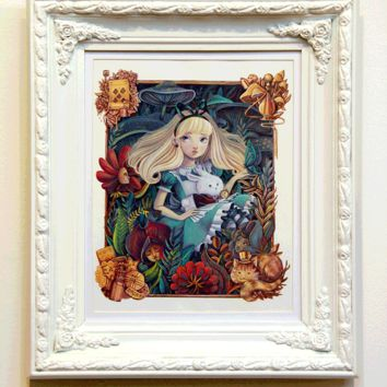 """Alice in the Garden"" Original by Siames Escalante"