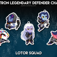 Voltron Charms from Jeanini's Merch Store